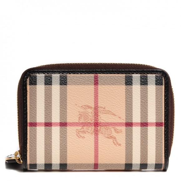 2952d89056ce Burberry Handbags - •Burberry• Haymarket Check Ziggy Zip Around Wallet